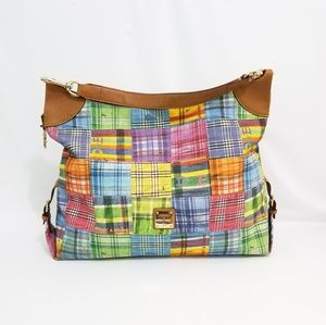 Dooney & Bourke Colorful Insect Canvas Large Hobo
